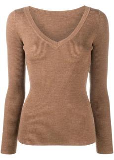 P.A.R.O.S.H. ribbed knit V-neck jumper