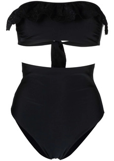P.A.R.O.S.H. ruffle-detail bikini set