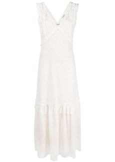 P.A.R.O.S.H. ruffle perforated dress