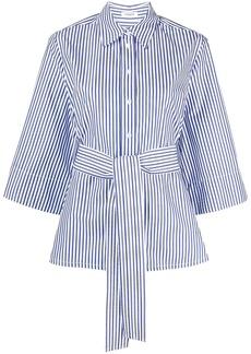 P.A.R.O.S.H. striped tie-waist shirt