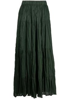 P.A.R.O.S.H. tiered cotton seersucker skirt