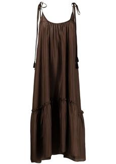 P.A.R.O.S.H. tiered silk midi dress