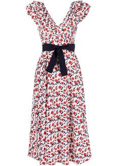 P.A.R.O.S.H. V-neck tied-waist dress