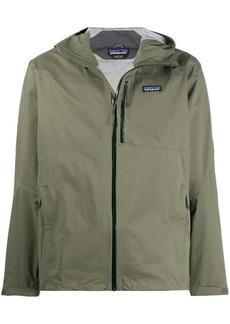 Patagonia hooded zipped rain jacket
