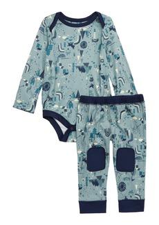 Patagonia Capilene® Base Layer Bodysuit & Leggings (Baby Boys)