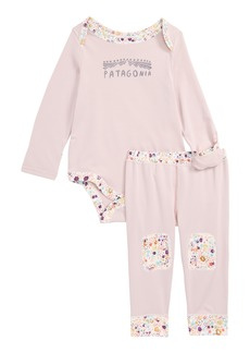 Patagonia Capilene® Base Layer Bodysuit & Leggings (Baby Girls)