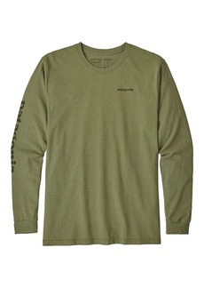 Patagonia Men's Long-Sleeved Text Logo Cotton/Poly Responsibili-Tee