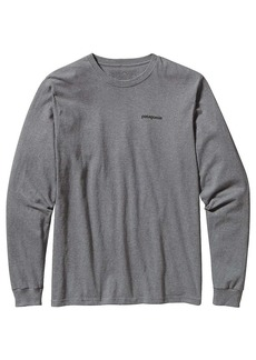 Patagonia Men's LS P-6 Logo Cotton T-Shirt