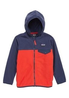 Patagonia Micro D® Snap-T® Hooded Fleece Jacket (Little Boy & Big Boy)