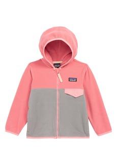 Patagonia 'Micro D® Snap-T®' Hooded Fleece Jacket (Toddler Girls & Little Girls)