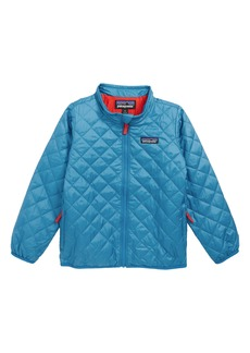 Patagonia Nano Puff® Quilted Water Resistant Jacket (Toddler Boys)