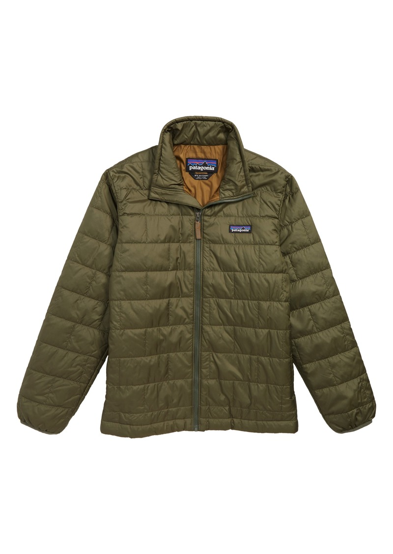 Patagonia Nano Puff® Water Repellent PrimaLoft® Insulated Jacket (Big Boys)