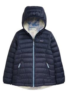 Patagonia Reversible Down Sweater Hoodie (Little Girl & Big Girl)