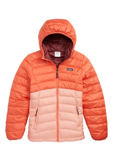 Patagonia Reversible Water Repellent 600 Fill Power Down Hooded Jacket (Little Girls & Big Girls)