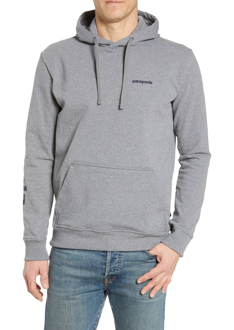 Patagonia Text Logo Uprisal Recycled Cotton Blend Hoodie