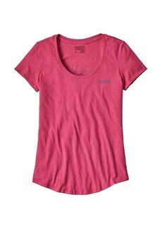 Patagonia Women's Board Short Logo Cotton/Poly Scoop T-Shirt