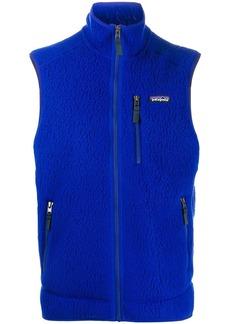 Patagonia textured fleece vest jacket