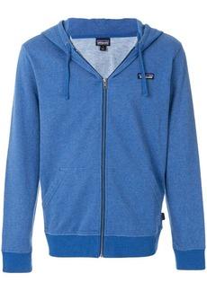 Patagonia zip front logo hoodie