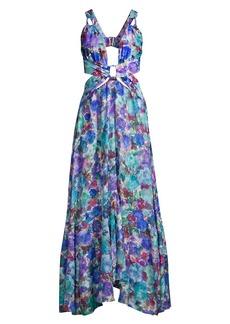 PatBO Blossom Cutout Maxi Dress