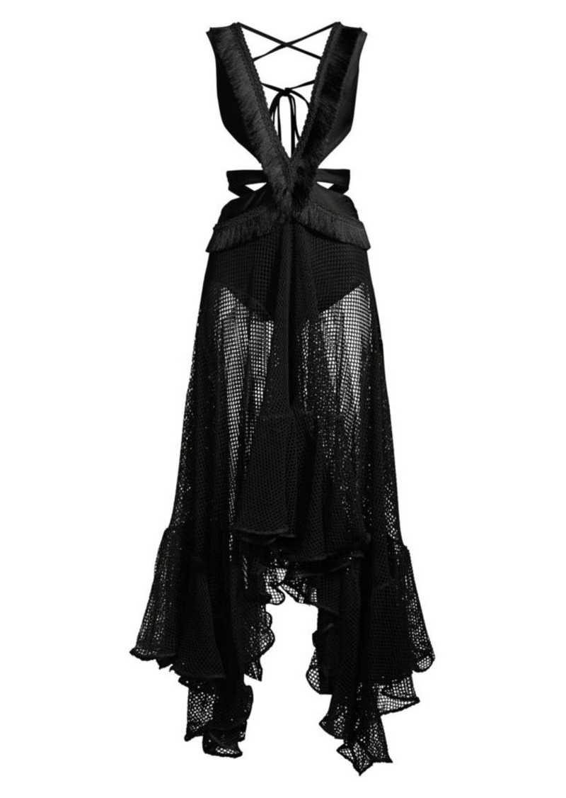 PatBO Cutout Maxi Beach Dress