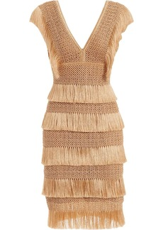 PatBO fringed sleeveless midi dress