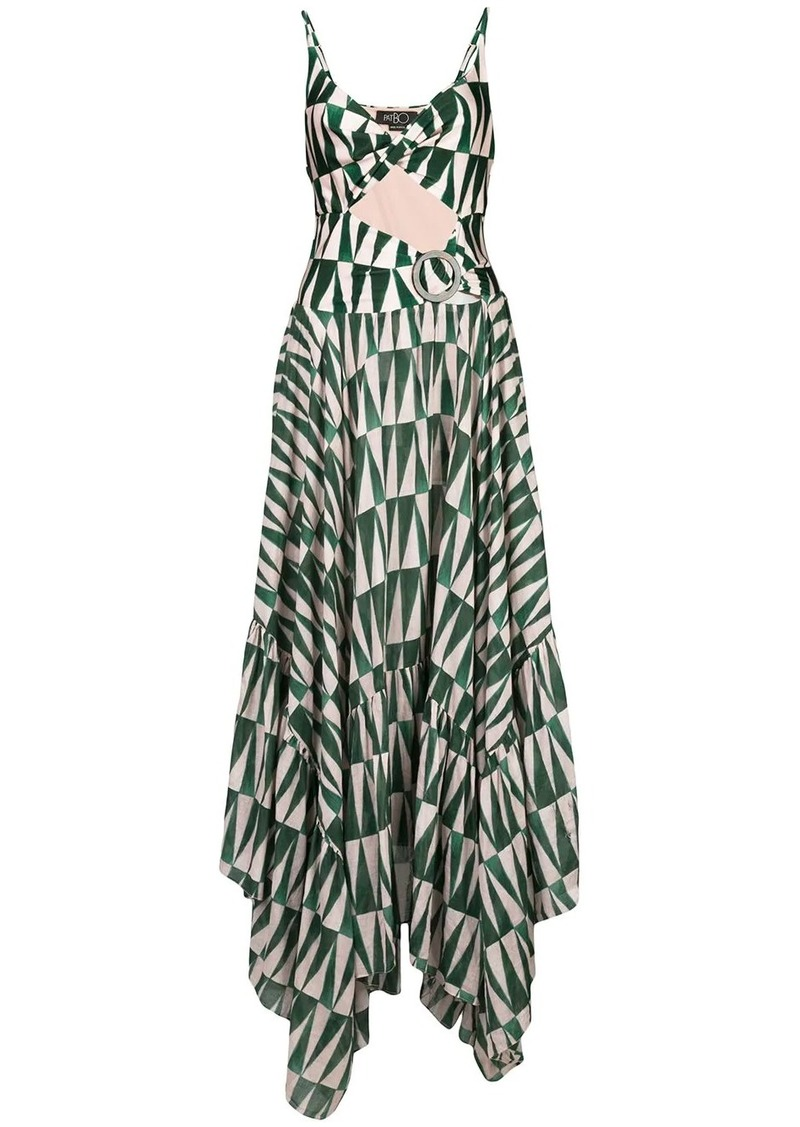 PatBO geo-print cut-out maxi dress