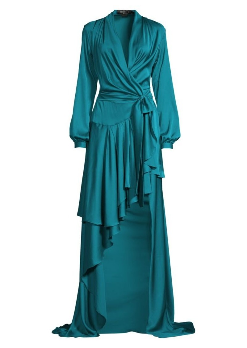 PatBO High-Low Maxi Wrap Dress