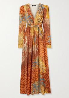 PatBO Margot Printed Chiffon Maxi Dress