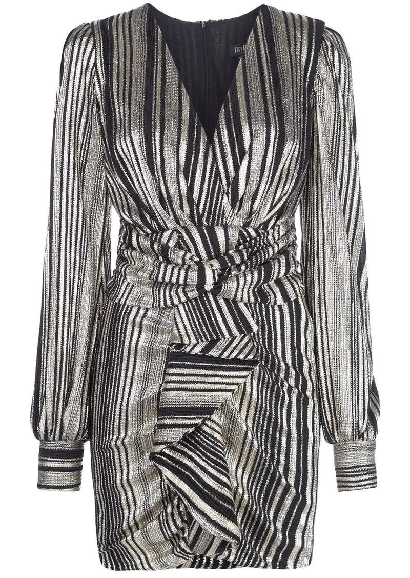 PatBO metallic stripe mini dress