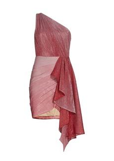 PatBO Ombré Lurex One-Shoulder Dress