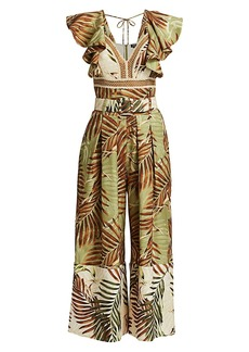 PatBO Palmeira Belted Wide-Leg Jumpsuit