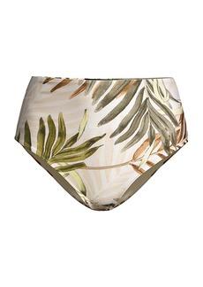 PatBO Palmeria High-Rise Bikini Bottoms