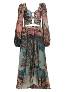 PatBO Paraiso Cut-Out Midi Dress