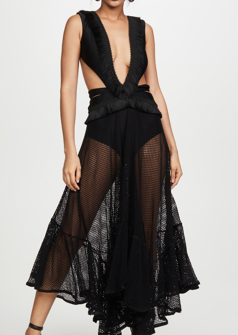 PatBO Cutout Mesh Dress