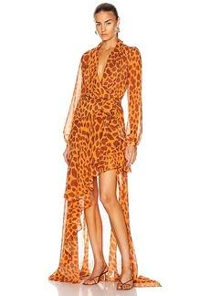 PatBO Margot Hi Low Maxi Wrap Dress