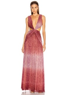 PatBO Ombre Lurex Sleeveless Cutout Gown