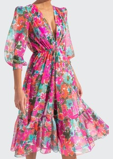 PatBo Patricia Bonaldi Gabi Printed V-Neck Coverup Dress