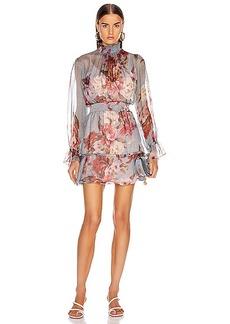 PatBO Peony Print Mini Dress