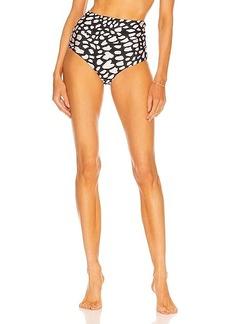 PatBO Spotted High Waist Bikini Bottom