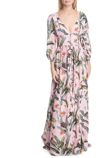 PatBO Tropical Print Gown