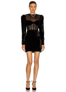 PatBO Velvet Bustier Mini Dress