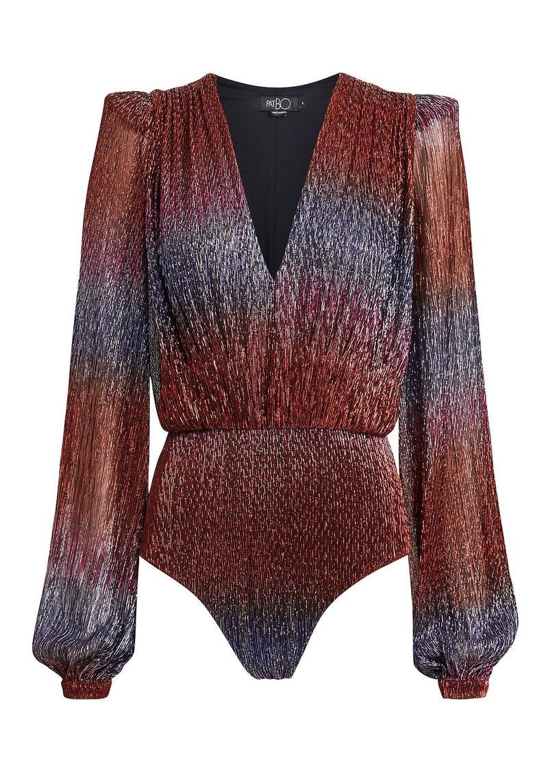PatBO Rainbow Lurex Bodysuit