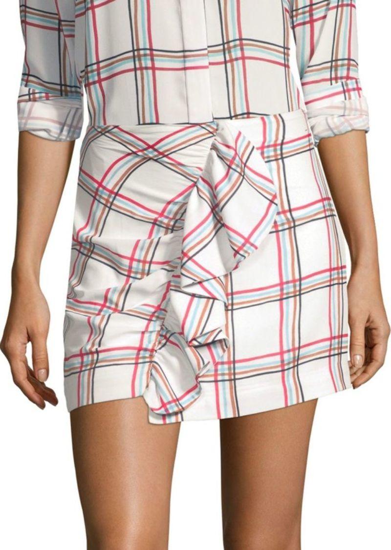 PatBO Ruffle Mini Skirt