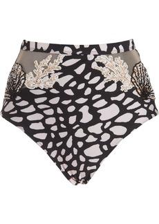 PatBO spotted beaded bikini bottoms