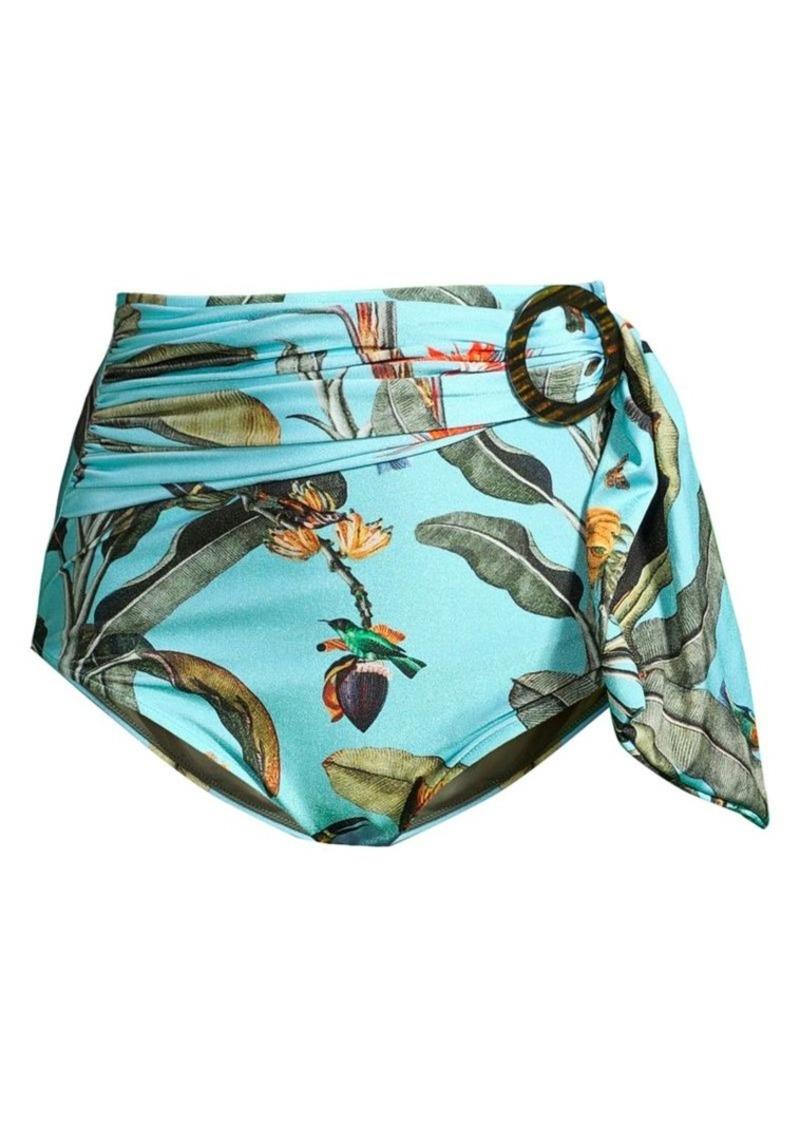 PatBO Tropical Belted Bikini Bottom