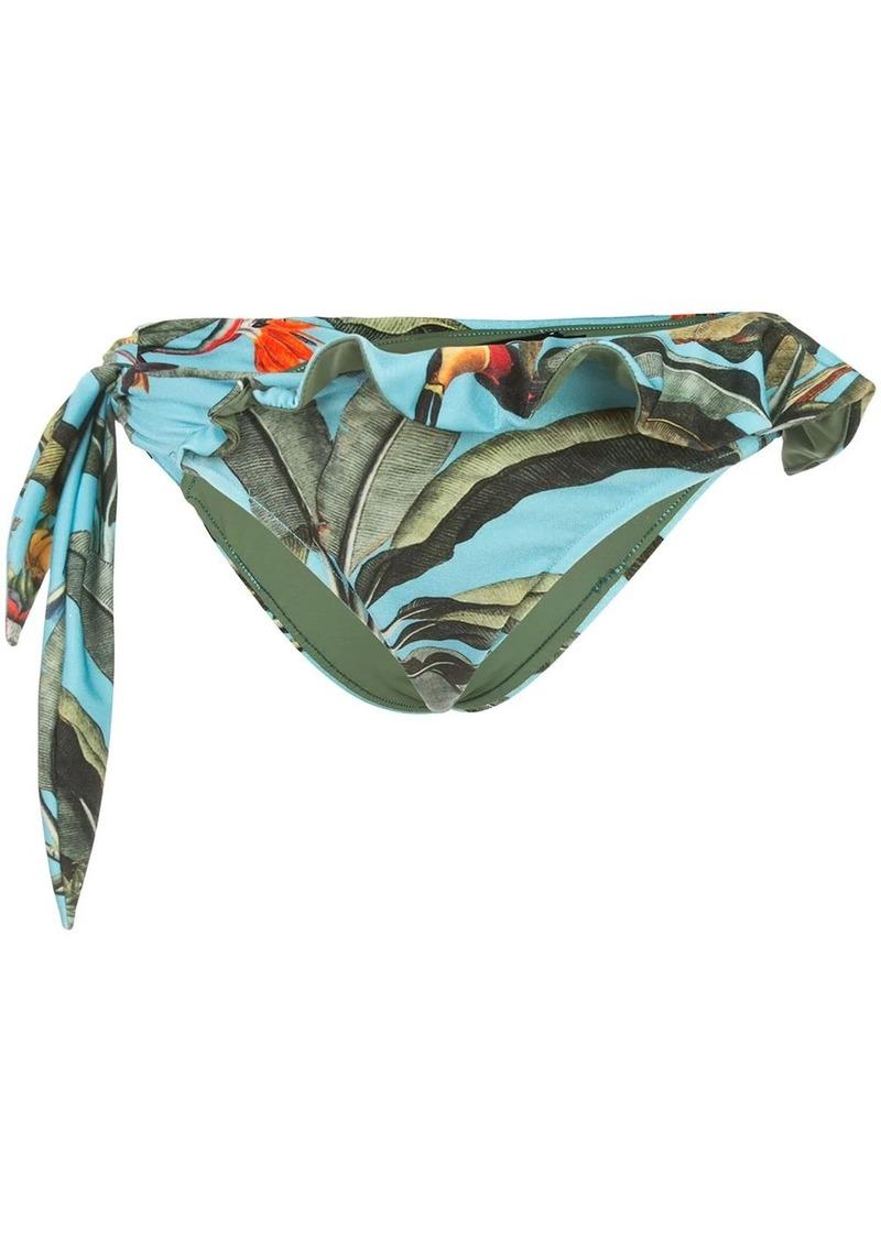 PatBO tropical side-tie bikini bottoms