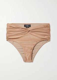 PatBO Twist-front Ruched Bikini Briefs