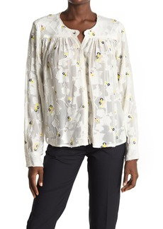 Paul & Joe Andante Embroidered Floral Burnout Long Sleeve Top