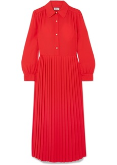Paul & Joe Barbara Pleated Crepe Midi Dress