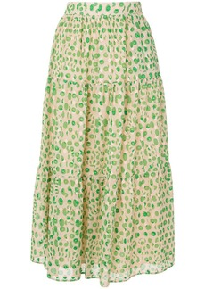 Paul & Joe Basilic floral-print A-line skirt